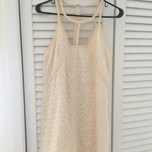 Cream Lace LF Dress